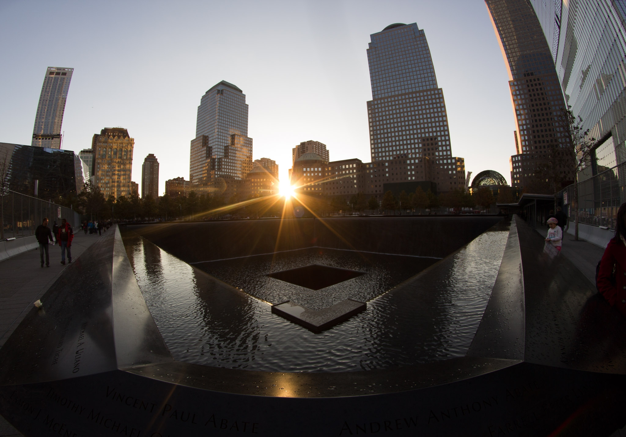 sunset-at-9/11-world-trade-center-memorial