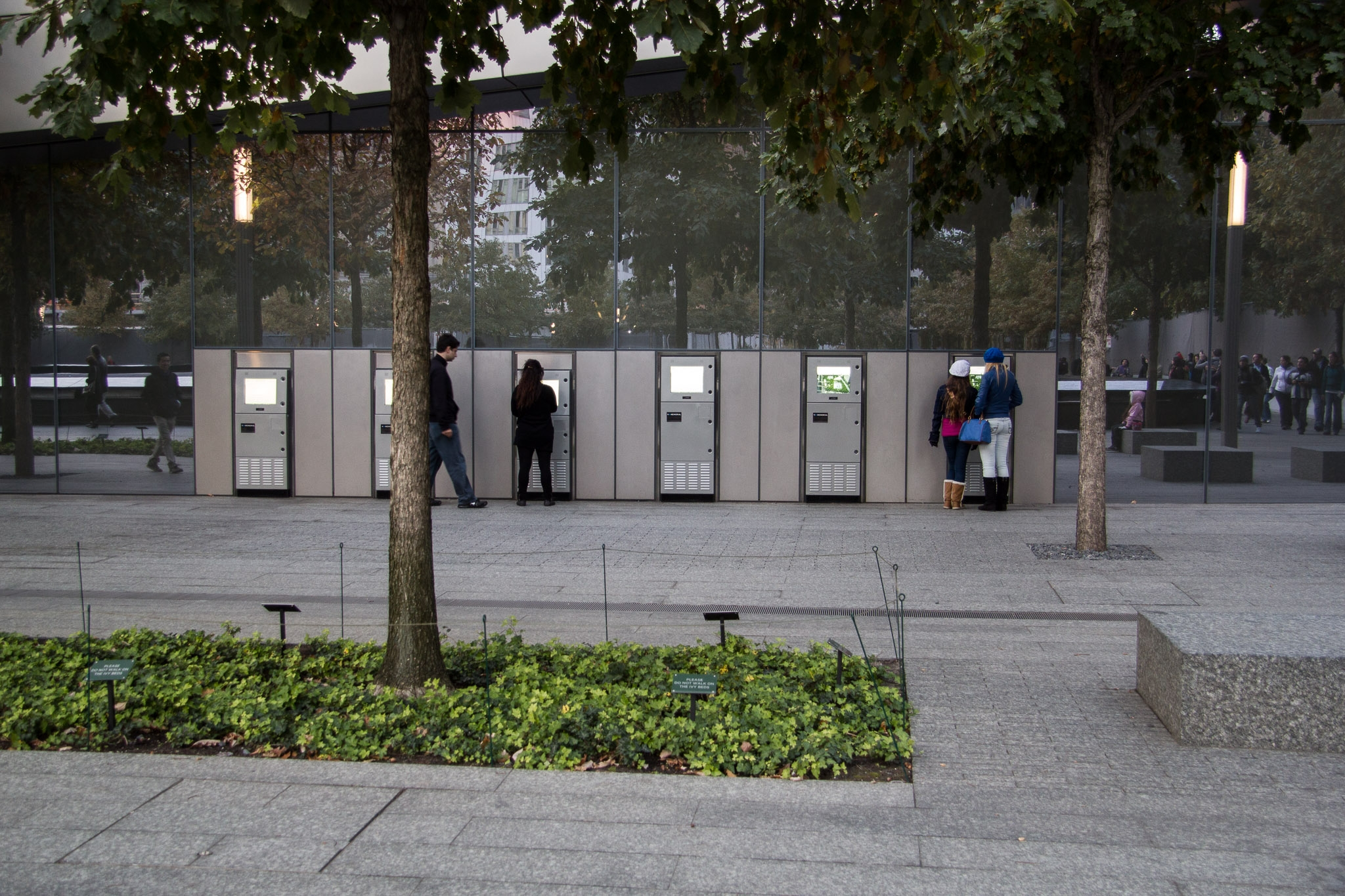 kiosks-at-9/11-world-trade-center-memorial