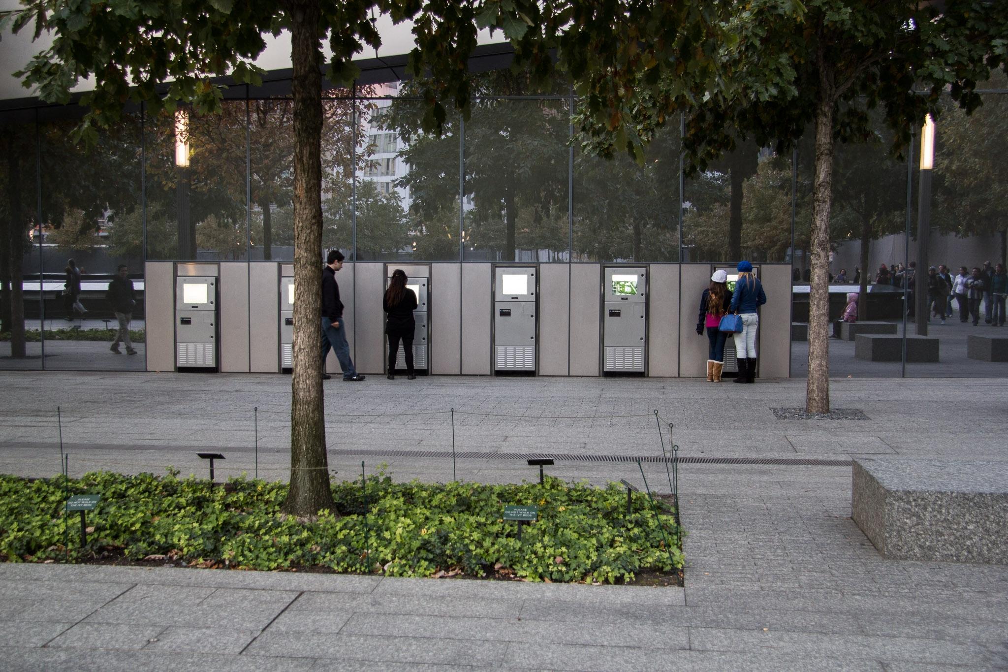 kiosks-at-9/11-world-trade-center-memorial