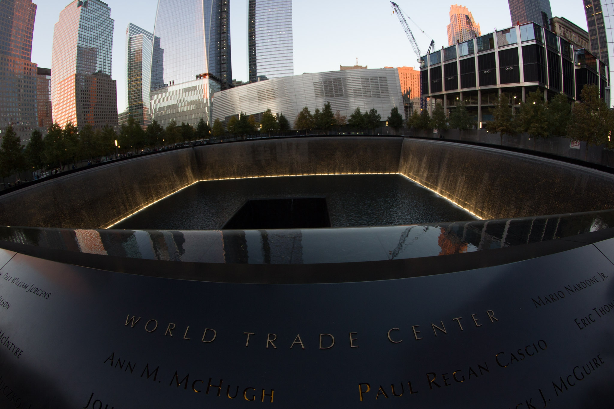 lights-at-9/11-memorial-fountains
