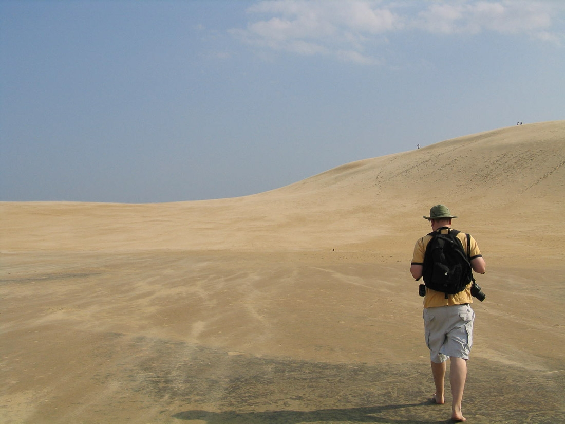 Jockey Ridge State Park sand dunes in Outer Banks, NC