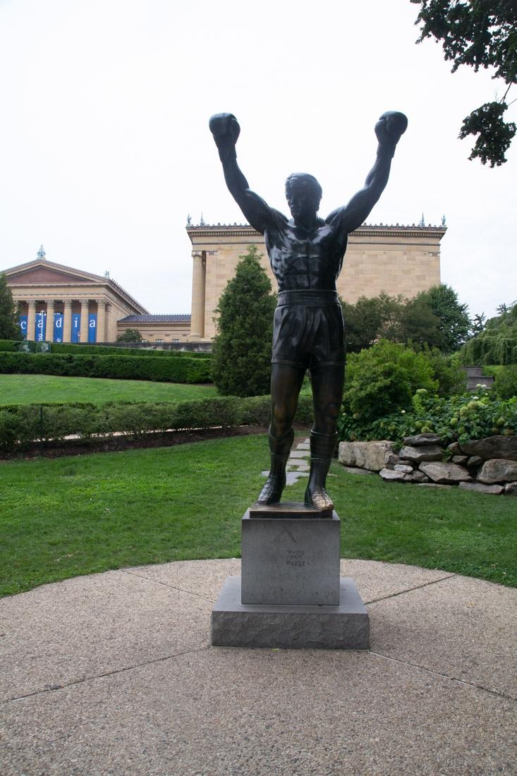 Rocky Statue outside of the Philadelphia Museum of Art, near the famous Rocky steps