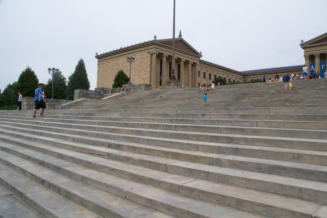 """The steps from the movie """"Rocky"""" at the Philadelphia museum of Art"""
