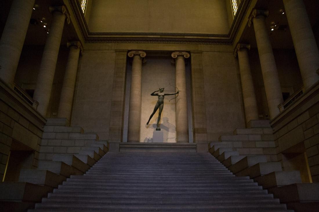 Entrance inside the Philadelphia Museum of Art