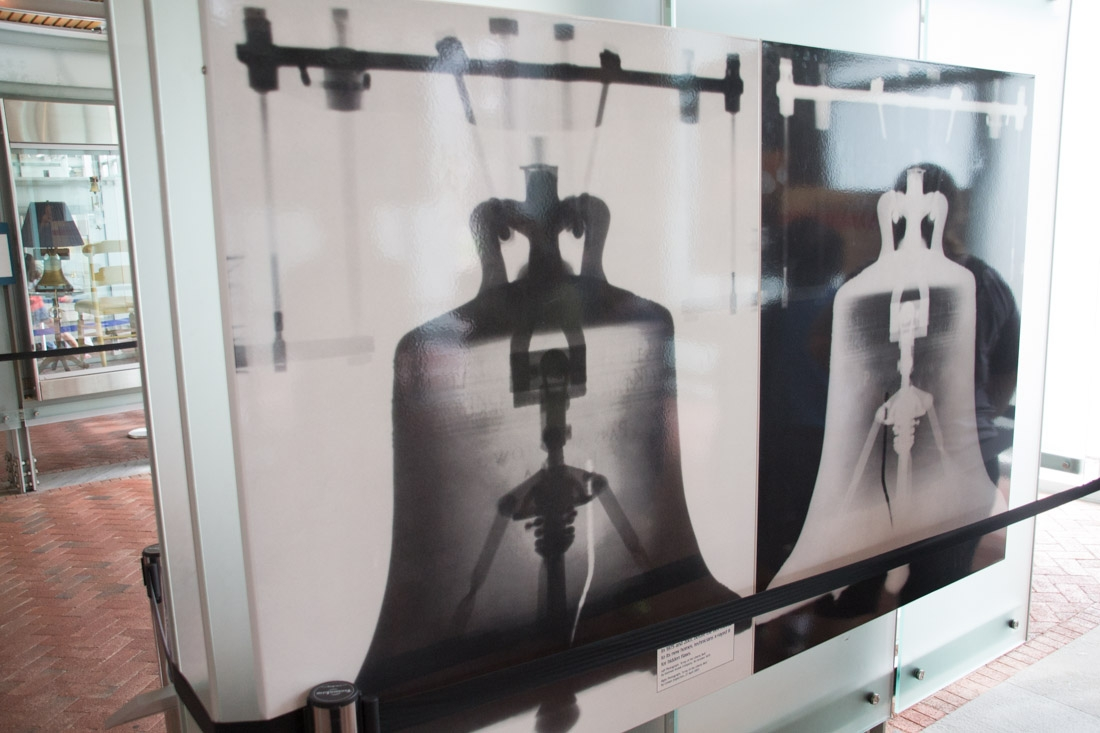 X-ray of the Liberty Bell