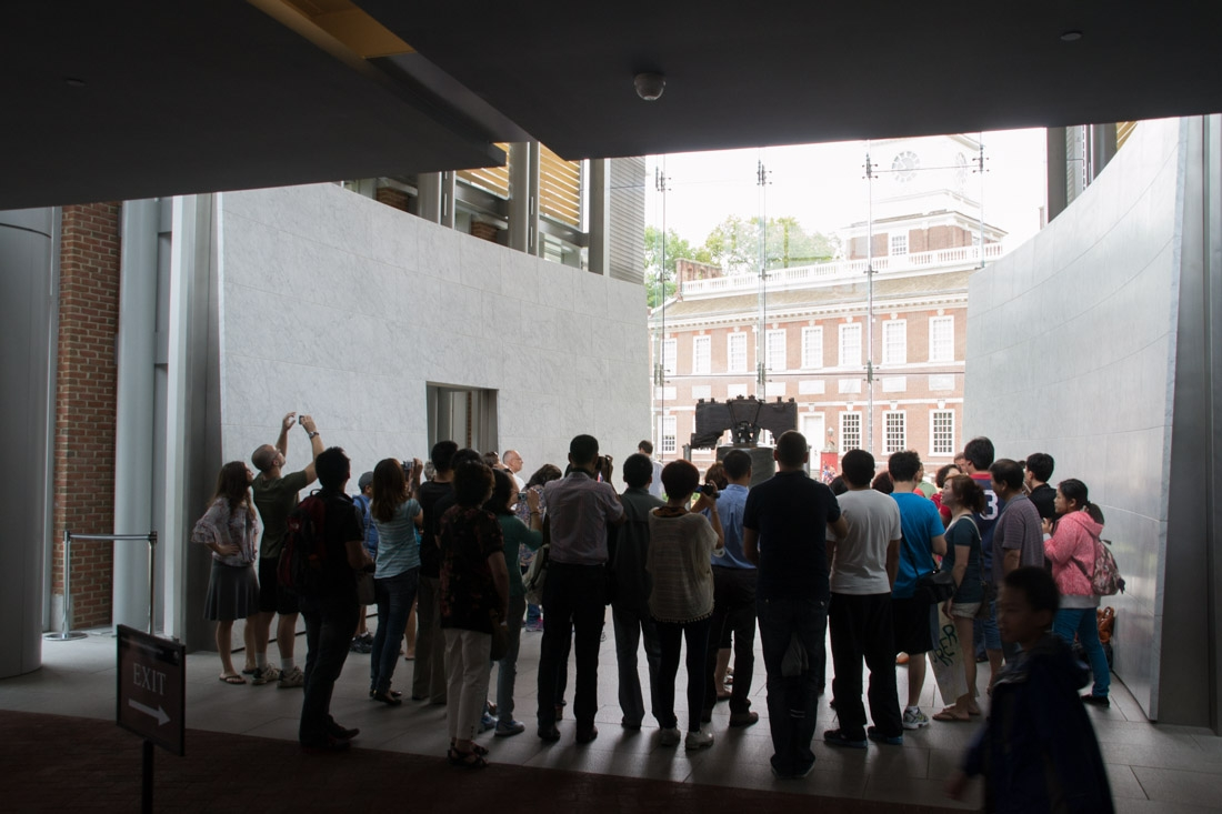 Crowds at the Liberty Bell
