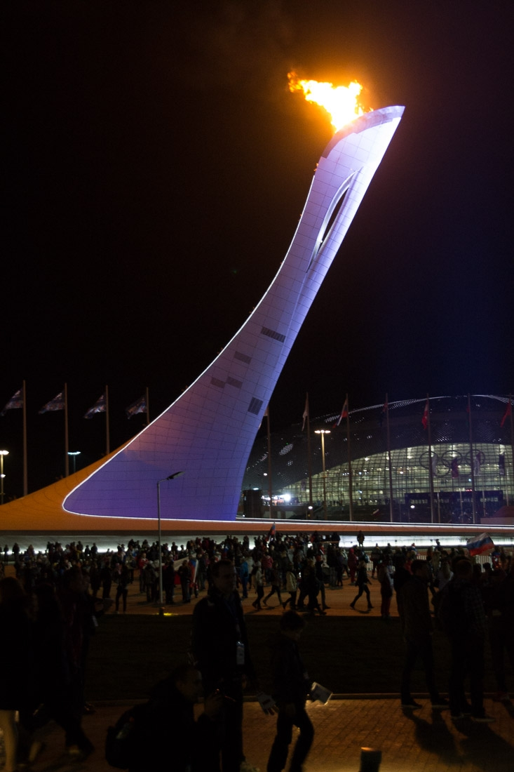 Olympic Flame at Night-1