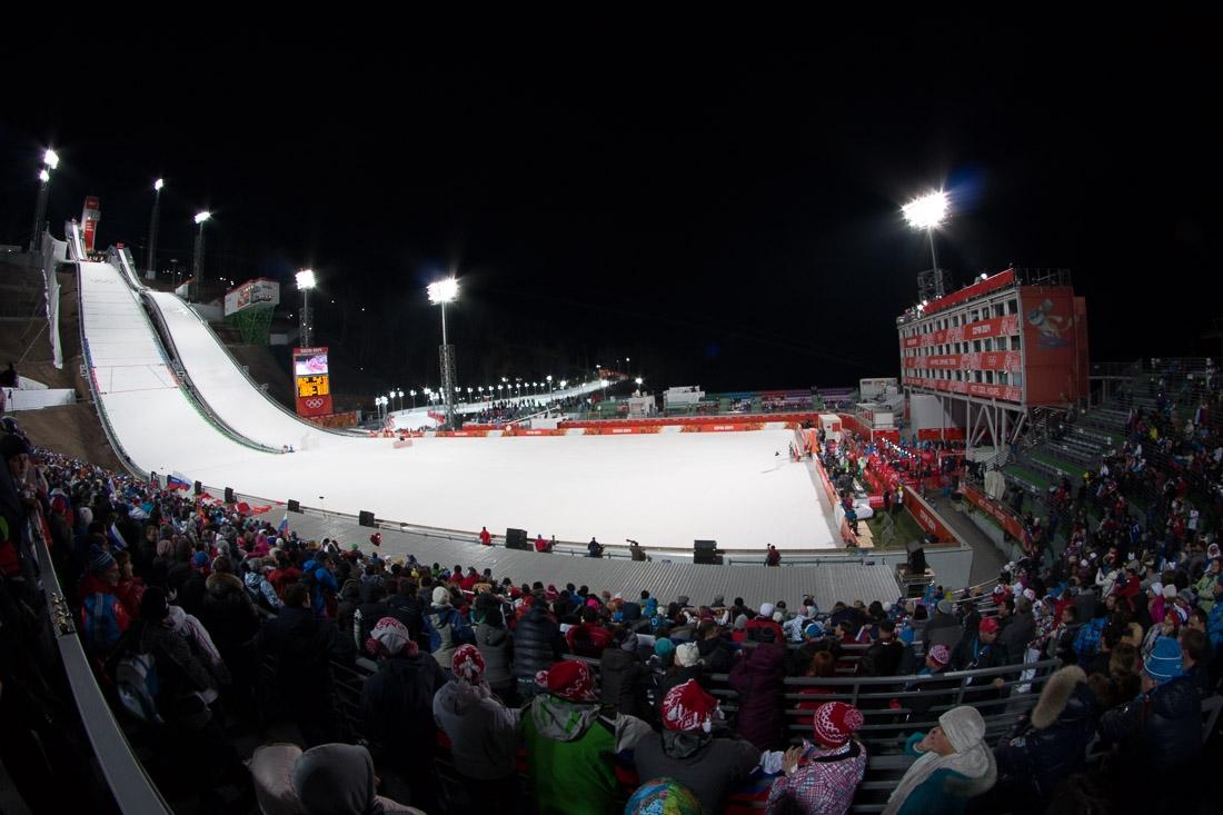 Sochi Olympics - Ski Jumping and Speed Skating-31