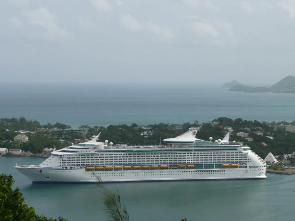 St Lucia Cruise Port Beach