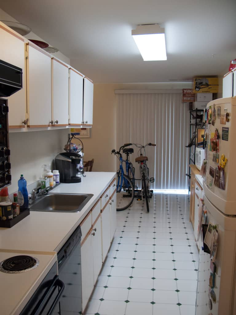 View of the kitchen (before) from the other direction