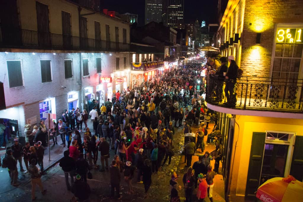 Bourbon Street Balcony Party Mardi Gras 2016 Bourbon Vieux Review
