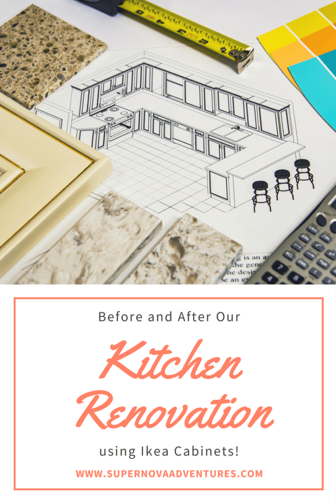 Before and After our Ikea Kitchen Renovation
