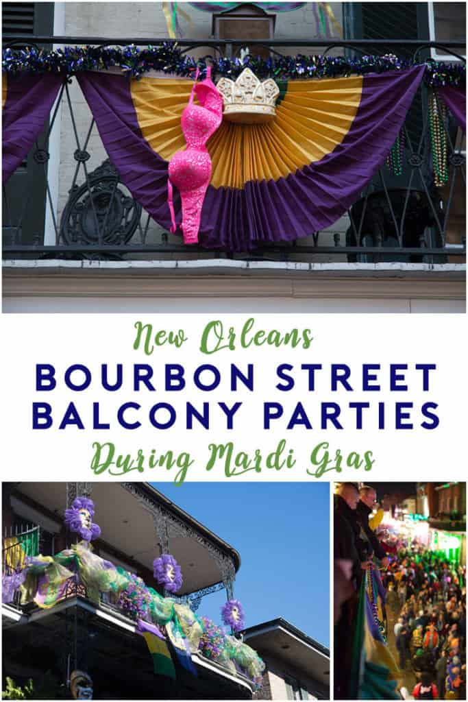 Bourbon Street Balcony Party | Parties in New Orleans during Mardi Gras