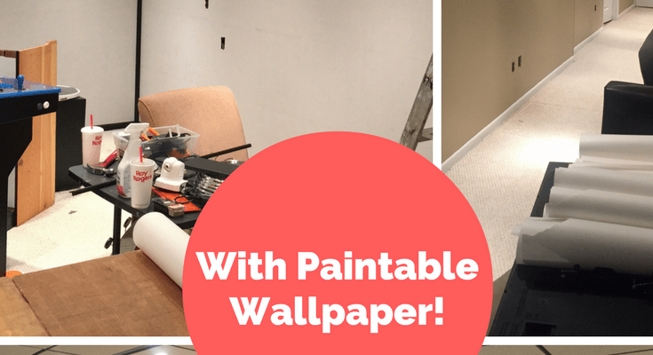 Covering Wood Paneling with Paintable Wallpaper