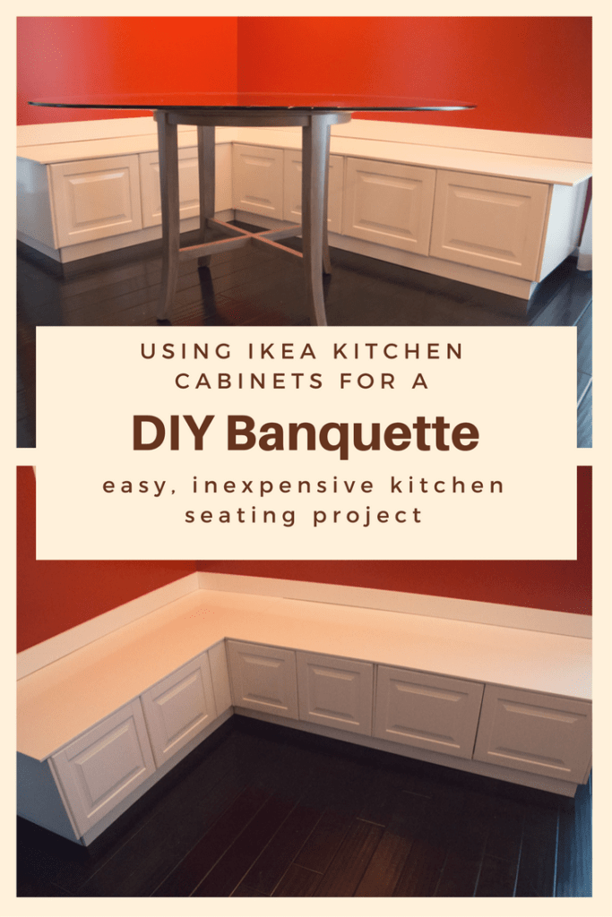 Diy kitchen banquette bench using ikea cabinets ikea hacks diy banquette and kitchen seating using ikea cabinets ikea hack solutioingenieria