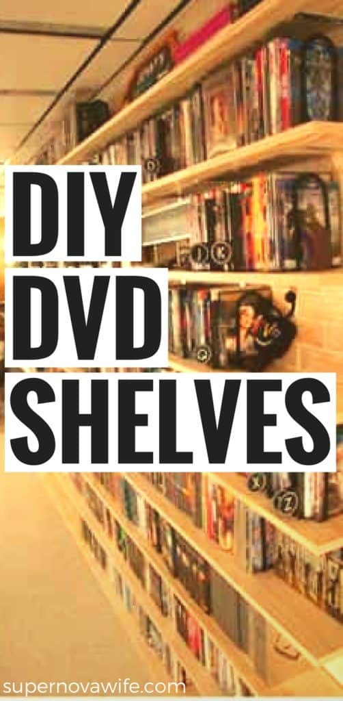 DIY DVD Shelves for a Large Collection