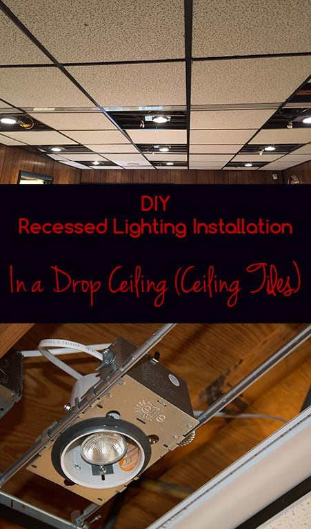 Diy recessed lighting installation in a drop ceiling ceiling tiles diy recessed lighting installation mozeypictures Choice Image
