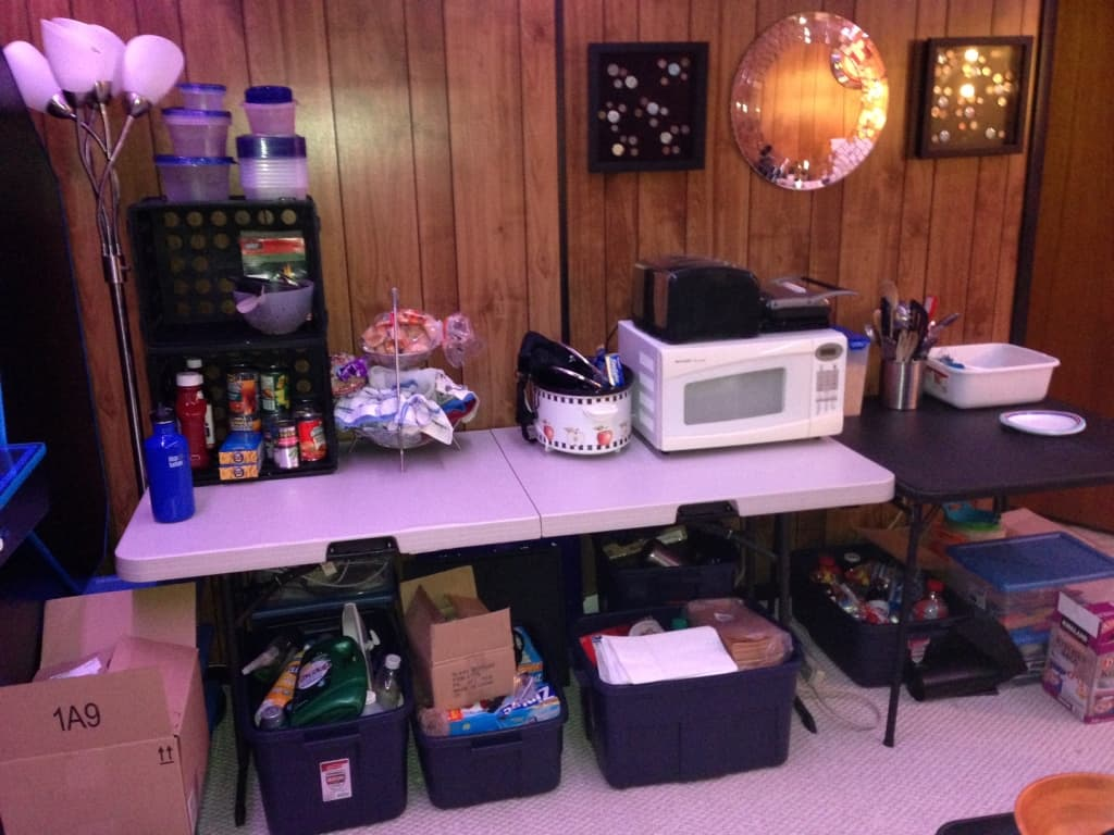 Temporary Kitchen Setup during Kitchen Renovation