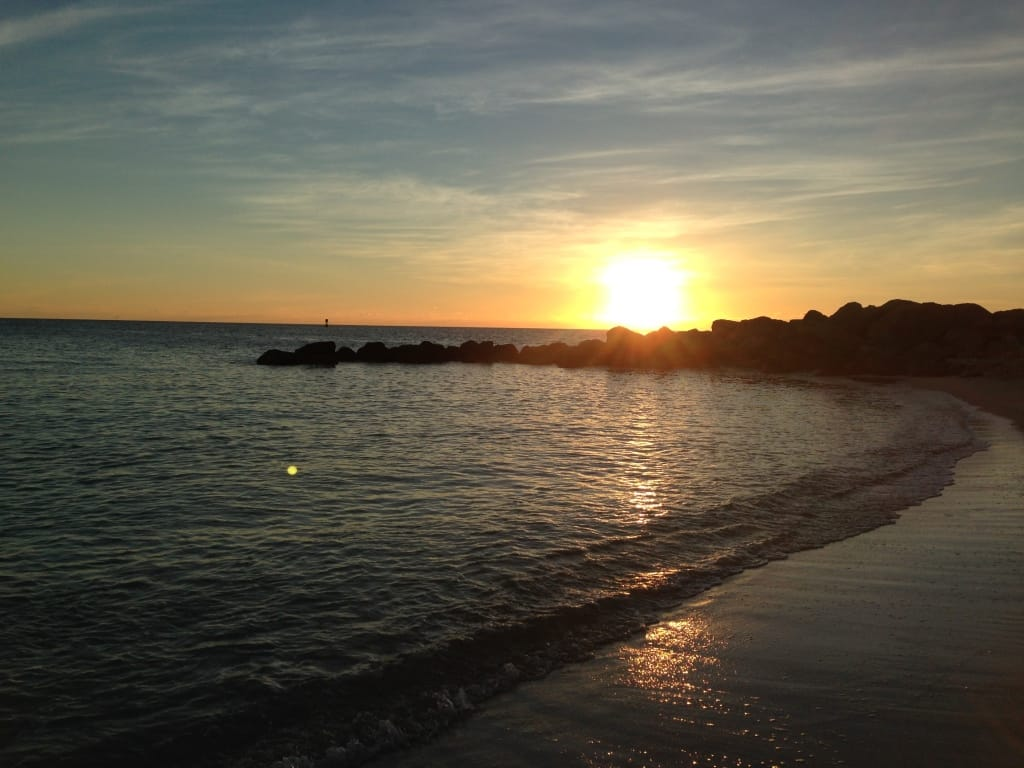 Sunset in Key West from Fort Zachary Taylor State Park