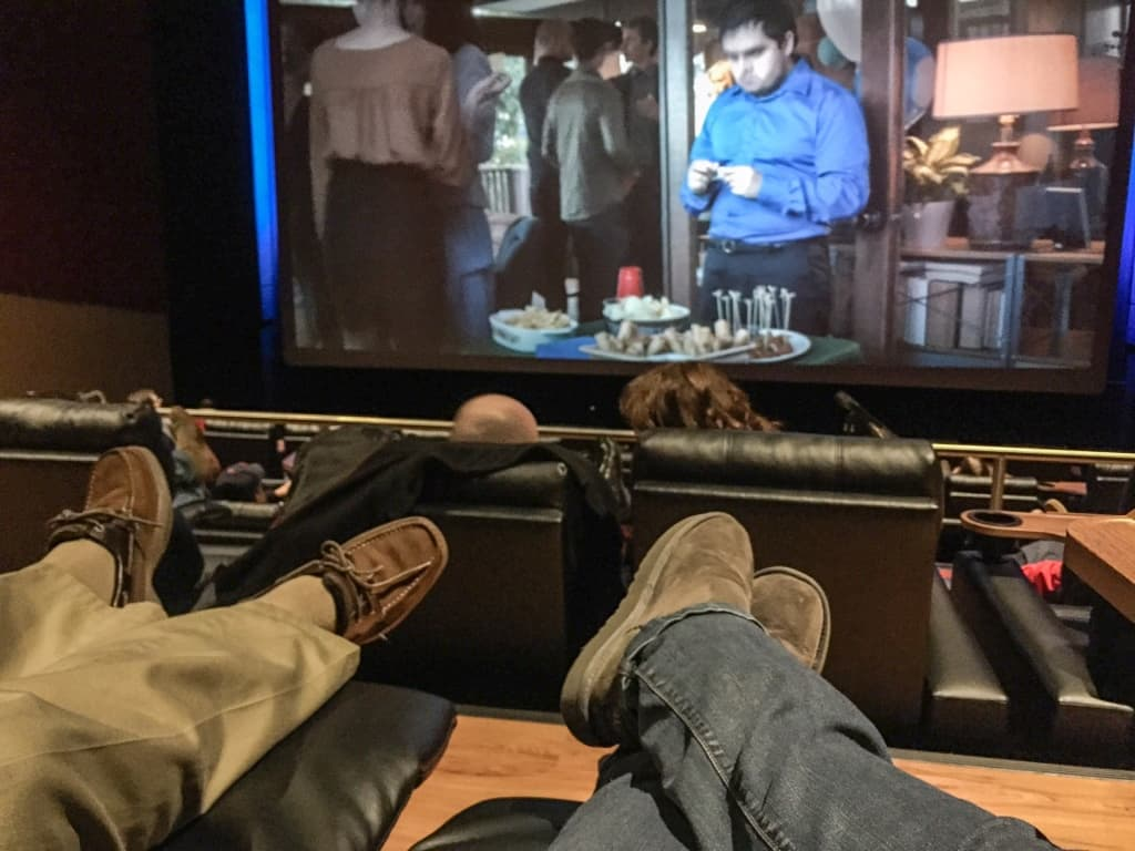reclining seats at the movie theater