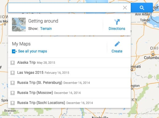 My google maps and creating a custom google map for a daily travel itinerary
