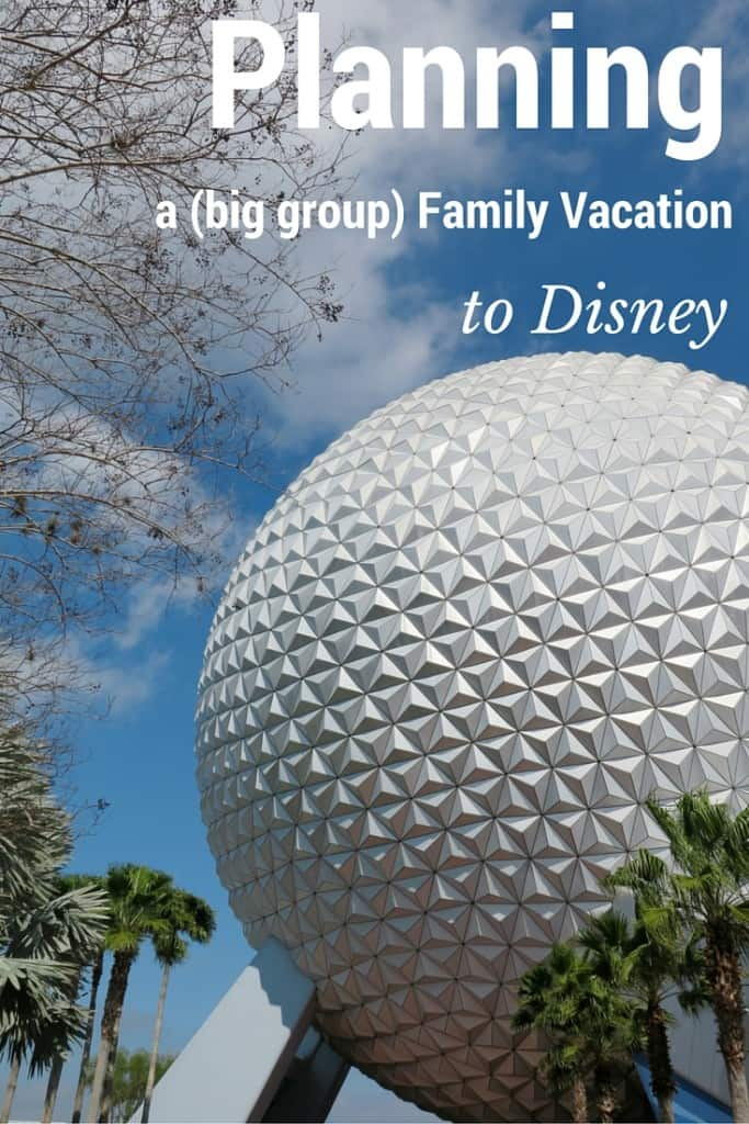 Planning a big group family vacation to Disney (or a vacation anywhere really!) Helpful spreadsheets to organize planning with the group.
