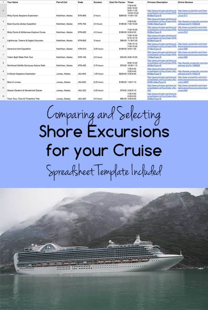 Selecting Shore Excursions for a Cruise