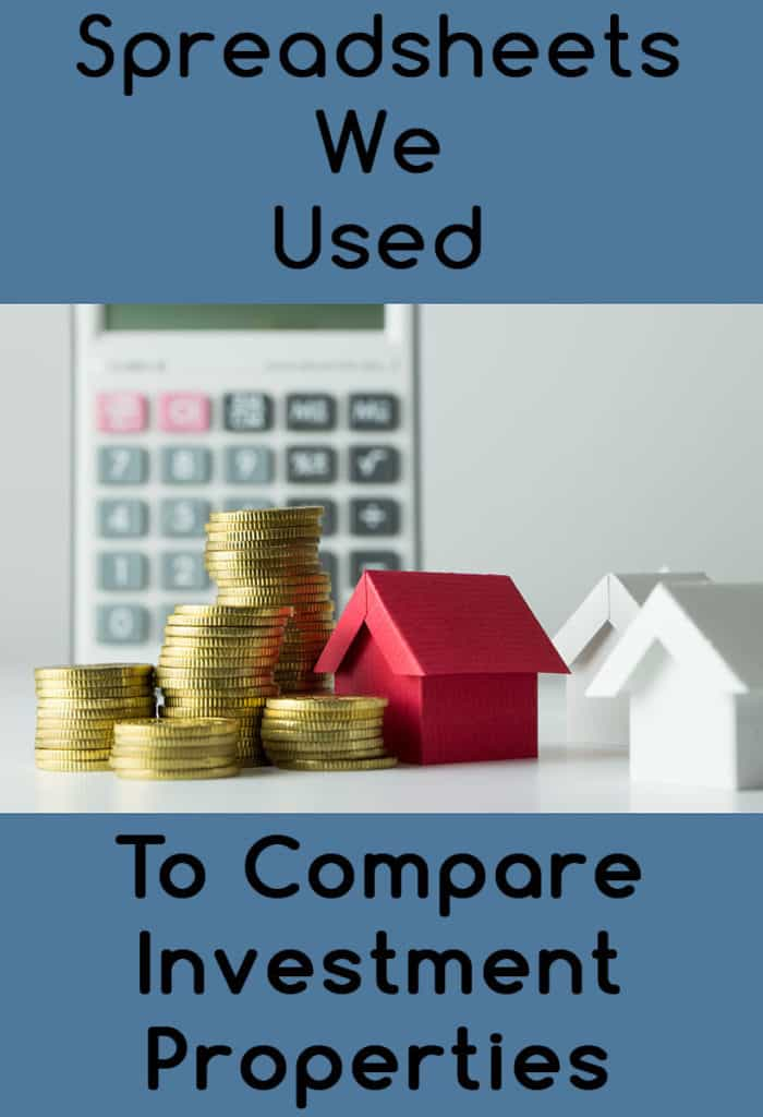 Spreadsheets we used to compare rental property investment options
