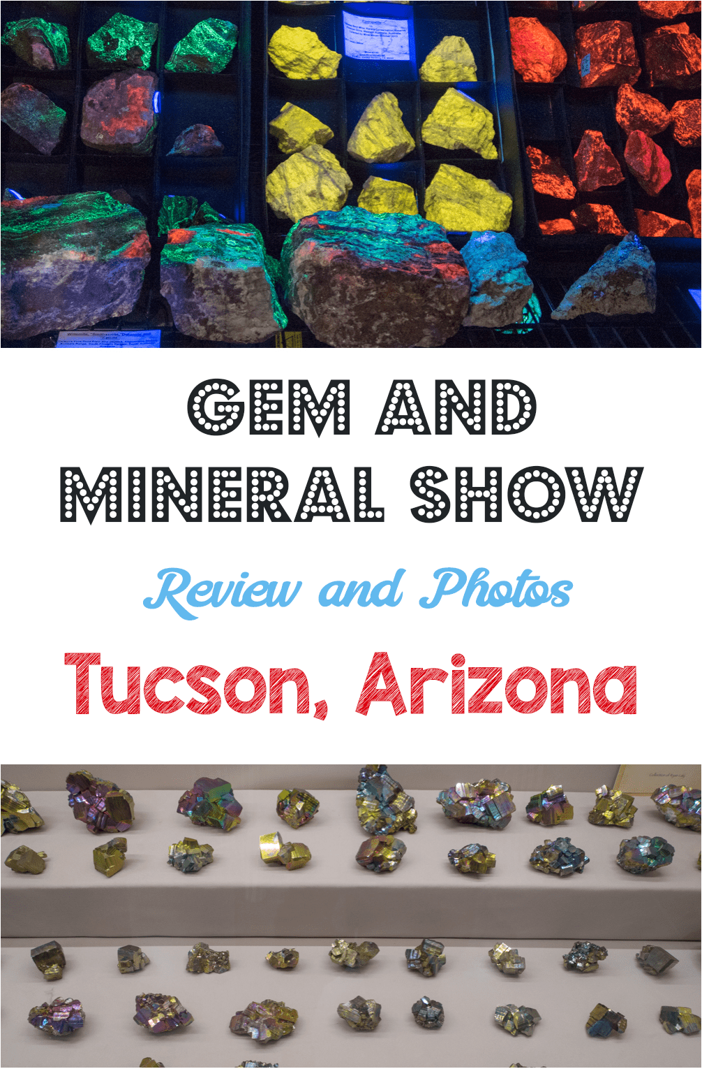 Gem and Mineral Show in Tucson, Arizona. Buying crystals!