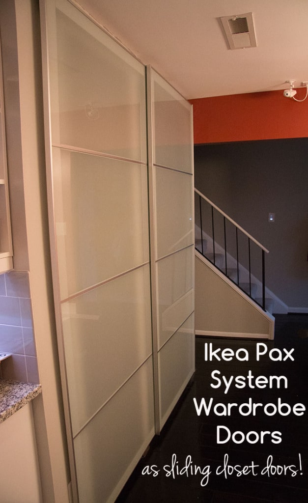 Using Ikea Pax Wardrobe System Doors as Sliding Closet Doors (Ikea Hack). Easy DIY project!