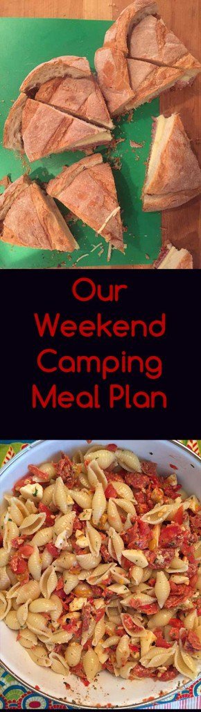 Our meal plan for a weekend camping trip | Campfire cooking and recipes