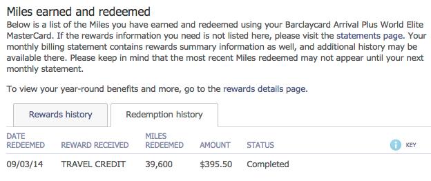 barclays redemption