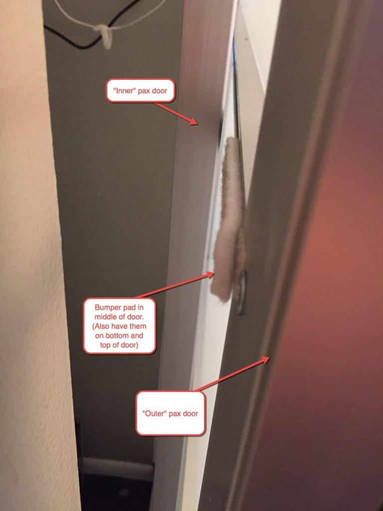bumper pads inside doors
