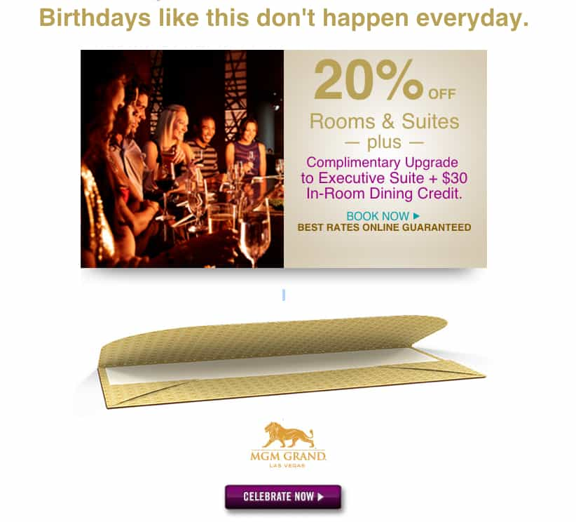 mgm birthday deal