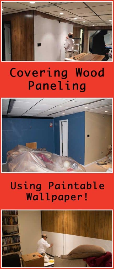 Covering Wood Paneling Using Paintable Wallpaper
