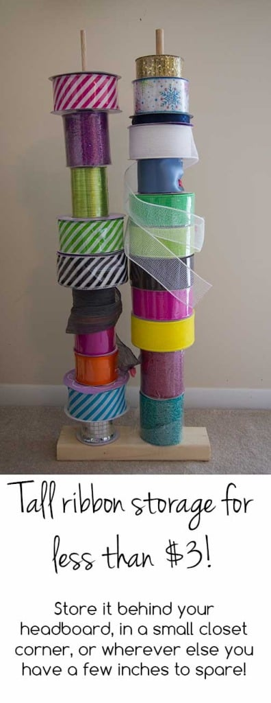 Tall Vertical Ribbon Storage