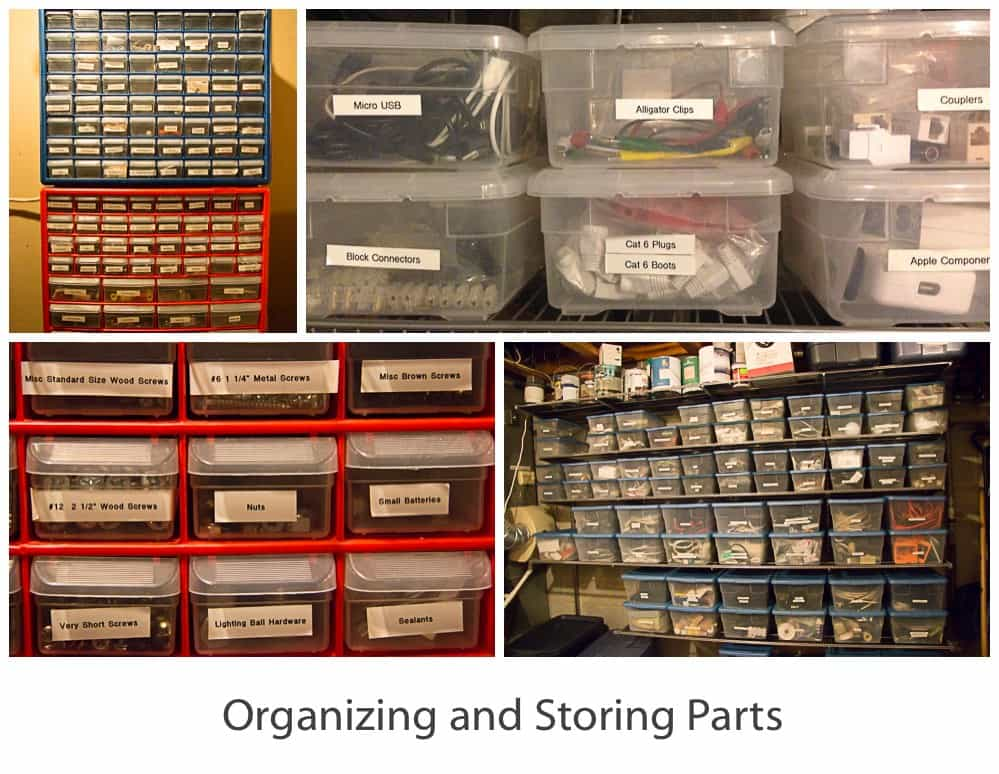 Organizing and storing small parts